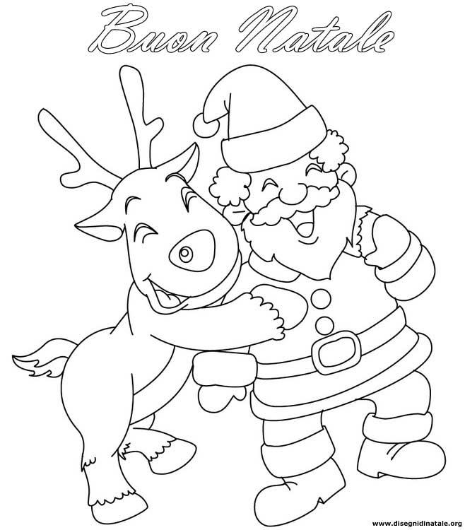 Disegni Renne Di Natale Disegni Renne Di Natale Da Colorare